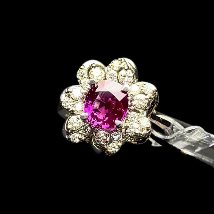 Nhẫn Nữ - Vàng Trắng - Đá Sapphire Tím Tự Nhiên #NSP-210728-01 1